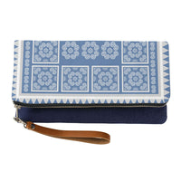 Hmong Printed Pattern Clutch Handbag