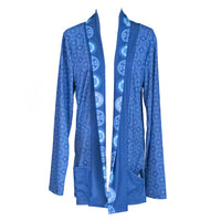 Blue Hmong Elephant Footprint Cardigan