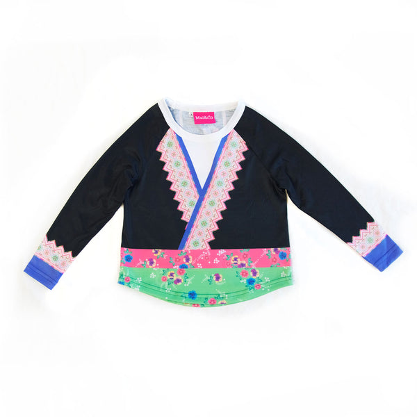 Girl's Long Sleeve Hmong Shirt