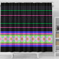 Hmong Stripe Shower Curtain