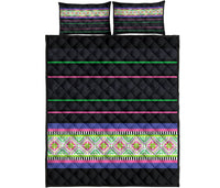 Hmong Stripe Quilt Bed Set