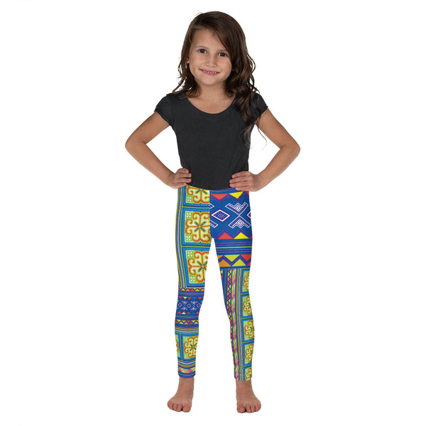 girls-hmong-blue-yellow-leggings-front