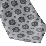 Men's Gray & Black Hmong Elephant Foot Print Neck Tie