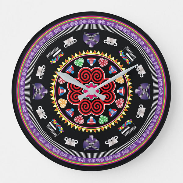 Hmong Time Round Wall Clock
