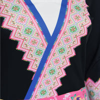 Women's Long Sleeve V-Neck Hmong Shirt