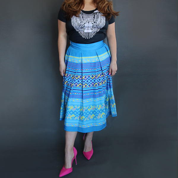 hmong-pleated-skirt-blue