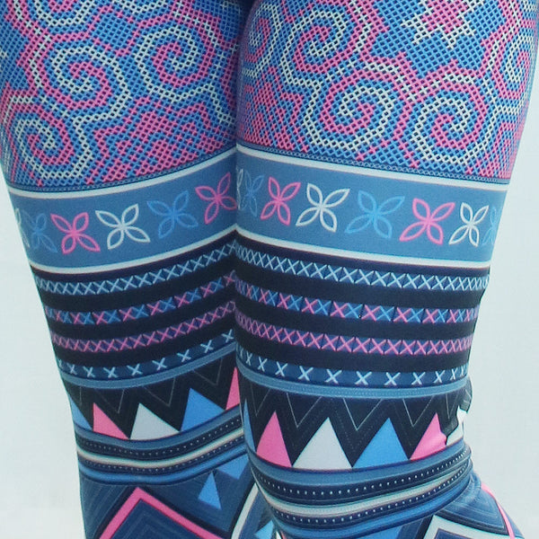 hmong-purple-cross-stitch-leggings-detail