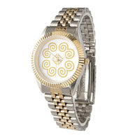 Hmong Gold & Silver Alloy Two-Tone Bracelet Watch