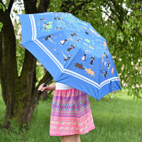 Hmong Everyday Life in Laos Story Cloth Umbrella