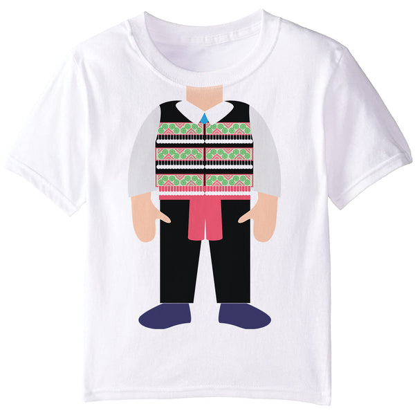 Hmong Boy Vest Costume Graphic T-Shirt