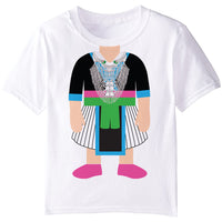 Hmong Girl White Skirt Graphic T-Shirt