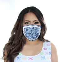 Reusable Cloth Face Mask with Blue & White Hmong Heart Print