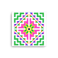 Hmong Cross Stitch Steps Graphic Canvas Wall Art