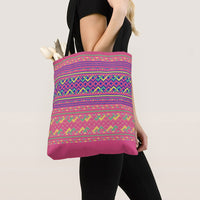 Pink Hmong Geometric Pattern Simple Tote