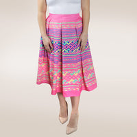 pink-pleated-long-skirt