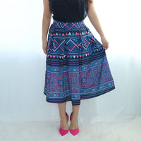 Dark Purple & Black Pleated Hmong Skirt