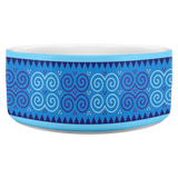 Blue Hmong Inspired Dog Bowl