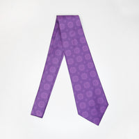 Men's Purple Hmong Elephant Foot Print Neck Tie