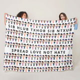 Spread Love Not Hate Hmong Brothers & Sisters Blanket
