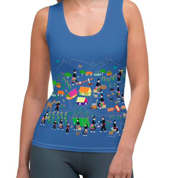 Women's Hmong Story Cloth Tank Top