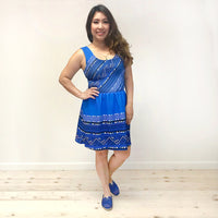 Blue Hmong Skater Dress