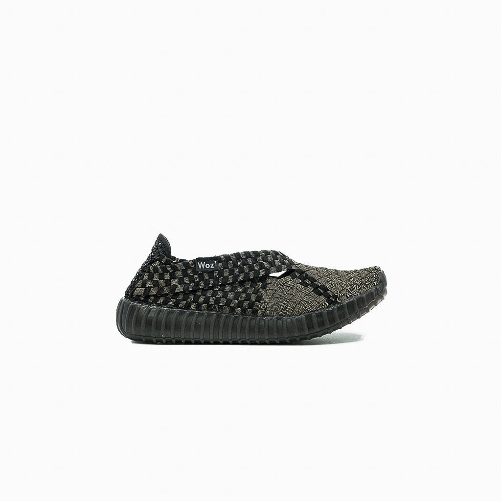 Andria Black and Gold Slip-on Sneakers - MyJooti