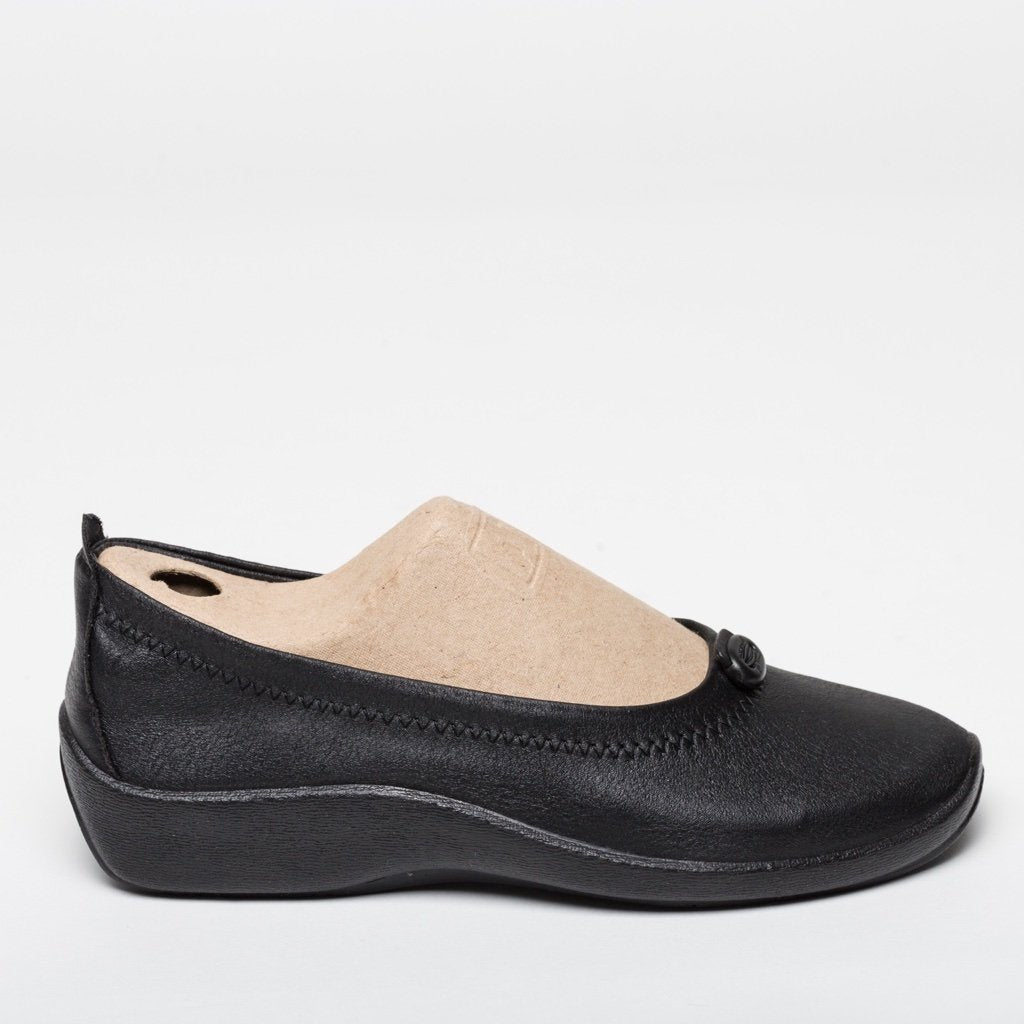Lisbon Black Ballerina Wedge | Women Size 36 to 41 | MyJooti.com
