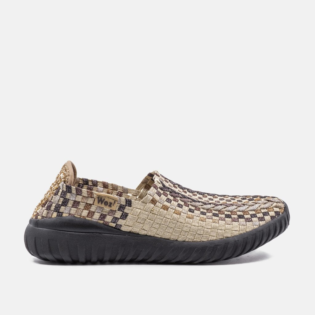 Cremona Gold and Multi Bronze Sneakers | Women Size 38 to 40 | MyJooti.com