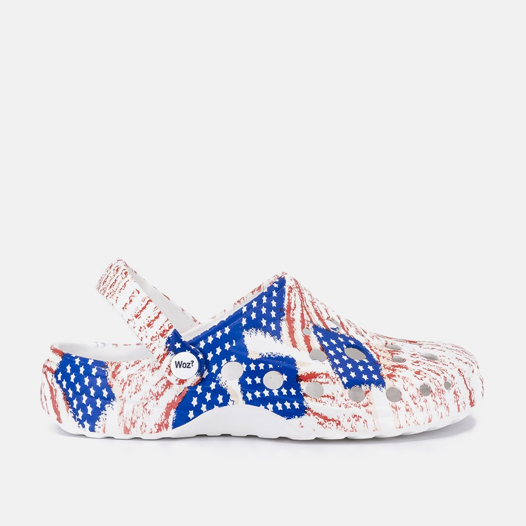 USA Flag Clogs
