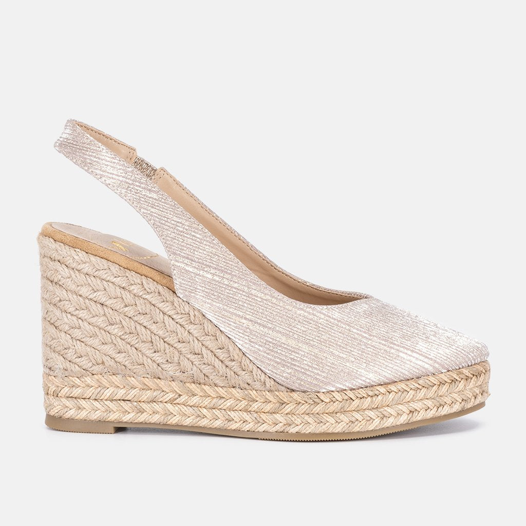 Casoria Gold Espadrille | Women Size 36 to 41 | MyJooti.com