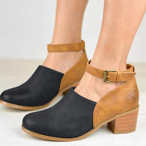 Sandalsdaily Casual Ankle Strap Clogs Pumps