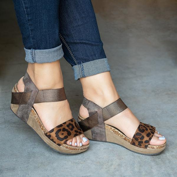 Sandalsdaily Low Heel Wedge Sandals
