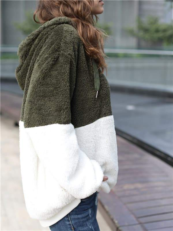 Sandalsdaily Winter Warm Faux Fur Zipper Hoodies