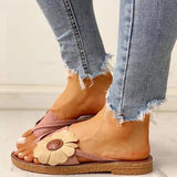 Sandalsdaily Casual Fashion Summer Flower Sandals