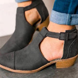 Sandalsdaily Low Heel Velvet Ankle Boots