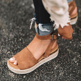 Sandalsdaily Adjustable Buckle Platform Sandals