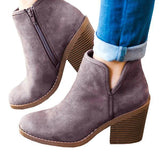 Sandalsdaily Suede Chunky Boots