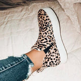 Sandalsdaily Women Leopard Casual Sneakers