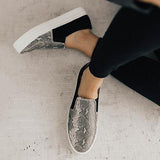 Sandalsdaily Women Fashion Printed Flat Sneakers
