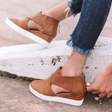 Sandalsdaily Women Fashion Stylish Wedge Sneakers