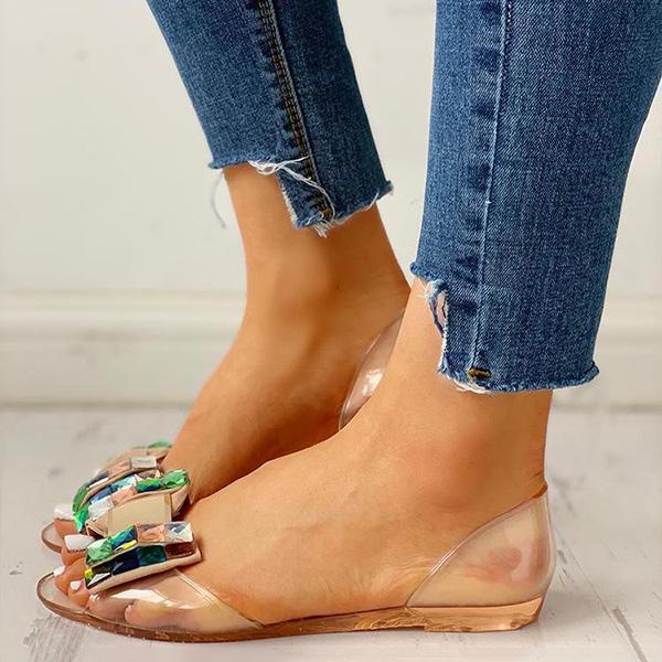 Sandalsdaily Pretty Design Peep Toe Sandals