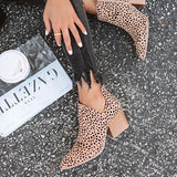 Sandalsdaily Marie Leopard outside cutouts Boots