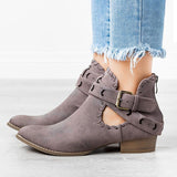 Sandalsdaily Trendy Belted Western Boots