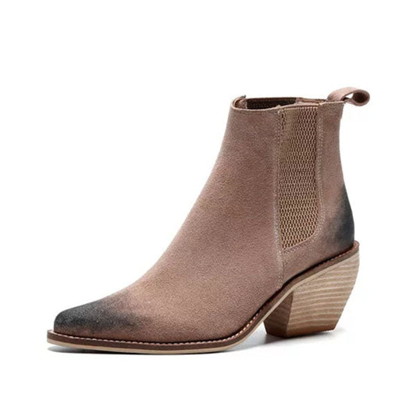 Sandalsdaily Women's Chunky Heel Vintage Chic Boots