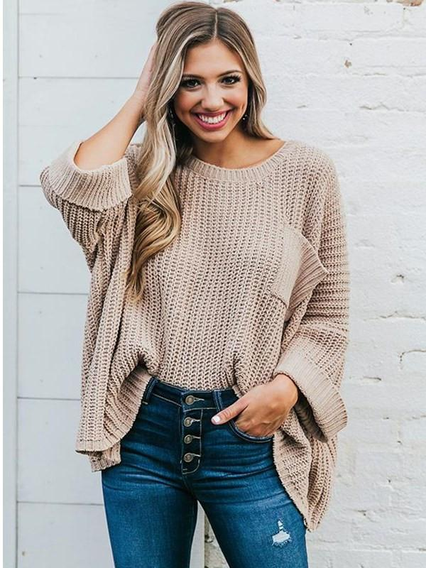 Sandalsdaily Loose Knitted Pullover Sweater
