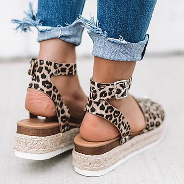 Sandalsdaily Espadrilles Ankle Strap Wedge Sandals