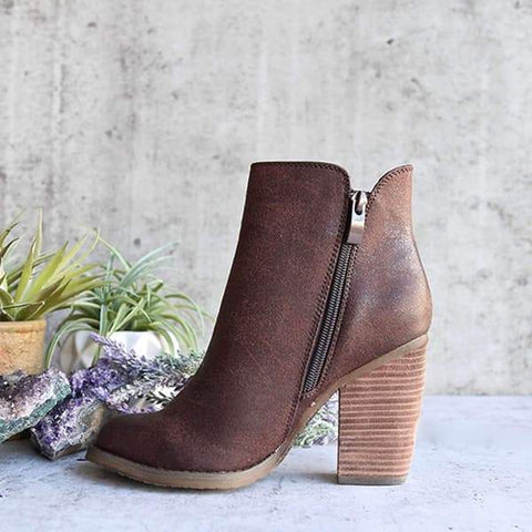 Sandalsdaily Women Fashion Chunky Boots