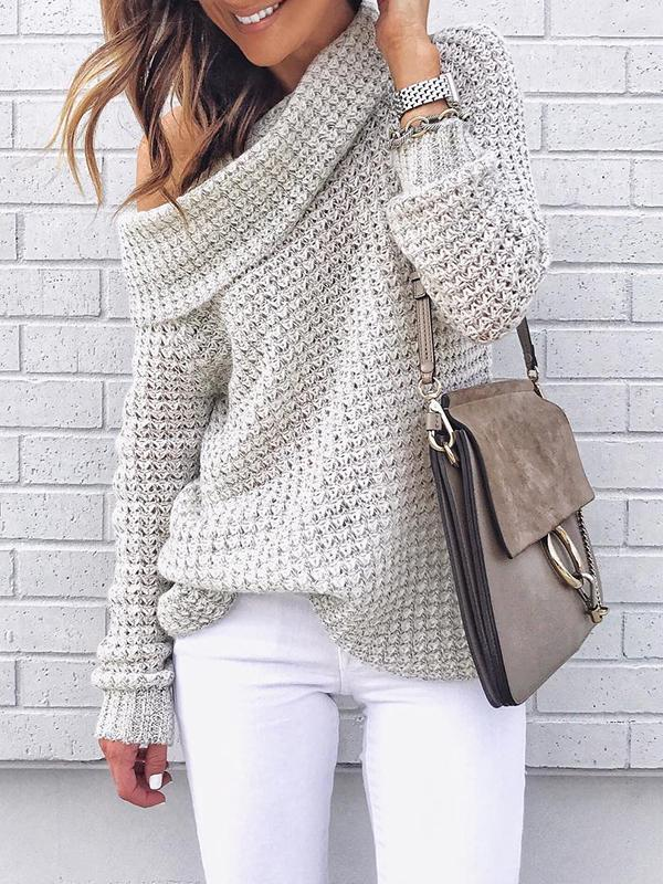 Sandalsdaily Fall Oversized Cable Pullover