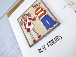 Hand drawn Greetings Card (Best Friends)