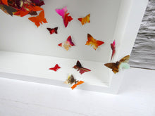 Load image into Gallery viewer, Watercolour Butterfly collage in Orange